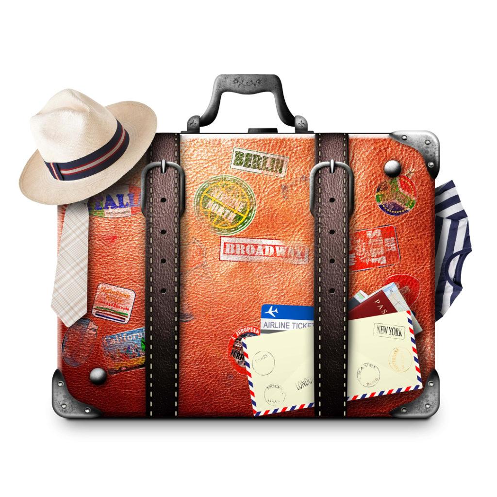 sua bagagem para primeira viagem de avião