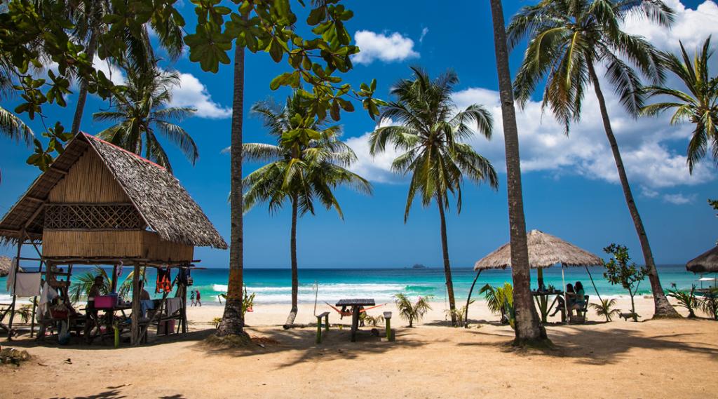 Praia de Sabang, Puerto Princesa, ilha de Palawan. Filipinas.