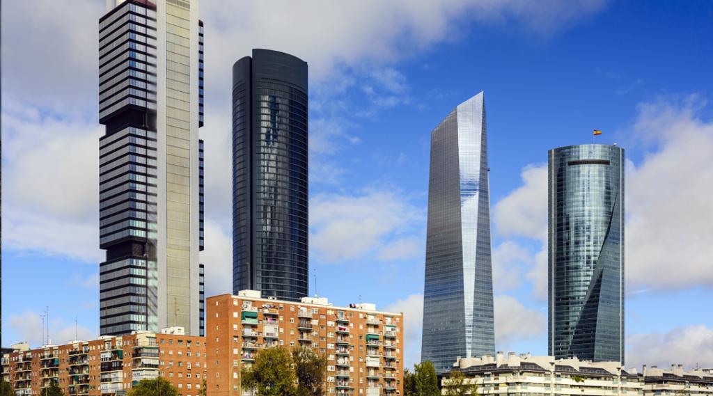 Distrito financeiro de Madri, Espanha.