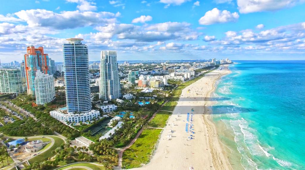 Praia do Sul, Miami Beach. Flórida (Seguro Viagem EUA).