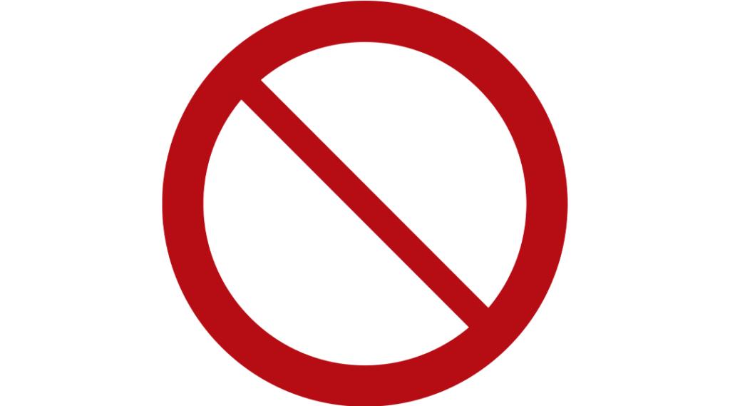 sinal proibido