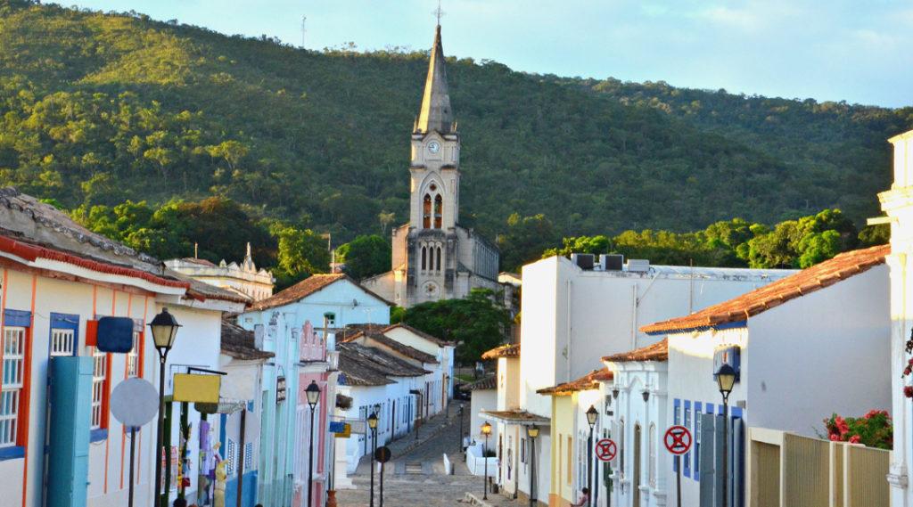 Rua principal da Cidade de Goiás em Goiás Brasil. Pontos turísticos do Centro-Oeste