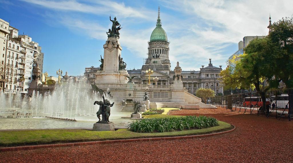 Buenos Aires, edifício do Congresso Nacional. Seguro viagem argentina